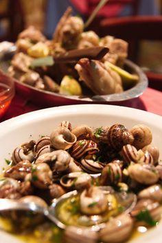 snails (or babbaluci) in Favara, Sicily, Italy