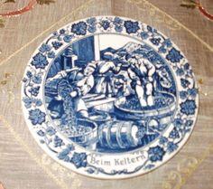 Original Royal Goedewaagen Holland Blue Delft Porcelain Plate