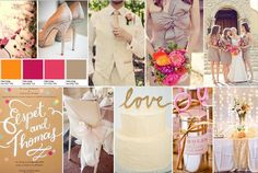 Summer wedding mood board created by Designed with Love in mind.  All images sourced from Pinterest