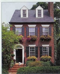 Appeal Colonial Home Inspiration More Red Brick House Exterior Ideas