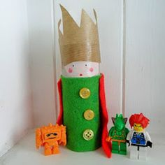 Grab some glue, fabric scraps, markers, and googly eyes to turn toilet paper tubes into cool dolls.