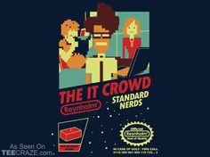 The IT Crowd  (Standard 8-Bit Nerds T-Shirt From Shirt Punch | New T-Shirts At TeeCraze)
