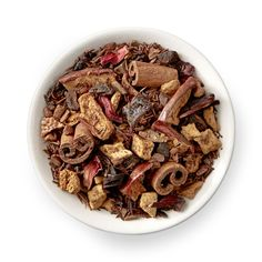 Sweet cinnamon and apple balanced with bright hibiscus, orange, and a hint of plum