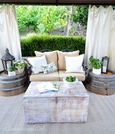 The Grey Home - Interior Design   Home Decor   Indoor Gardening: Wood Barrels decorating ideas