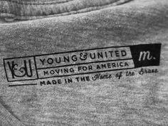 (via Dribbble - Y&U Shirt Tag Design by Young&United)