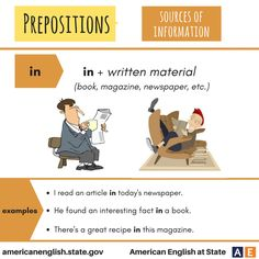 Prepositions: Sources of Information - in