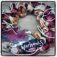 Repin to Win! Original design by Jenny Howse - the one and only. #ulm #warhawks #monroe