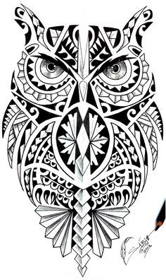 36 best Maori Owl Tattoo Designs Shoulder images on . Maori Tattoos, Samoan Tattoo, Leg Tattoos, Body Art Tattoos, Sleeve Tattoos, Cool Tattoos, Tatoos, Polynesian Tattoos, Tribal Owl Tattoos