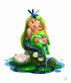 Elena Burkova on Behance Game Character, Character Concept, Concept Art, Character Design, Cartoon Styles, Cartoon Art, Casual Art, Fantasy Art Landscapes, Cute Characters