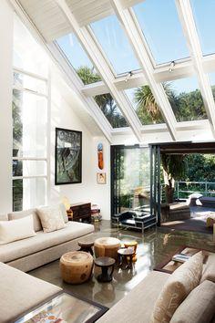 Espacio contenido por techo de vidrio/invernadero