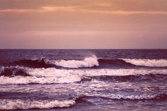 Sunset waves - North Sea - Northhumberland, England, UK
