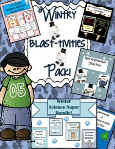 Winter Blast-tivities Pack ~ 119 pages of winter fun for kids | The Happy Housewife