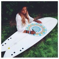 I really want to do this to my surf board it would look so cool, mine is just plain on the back