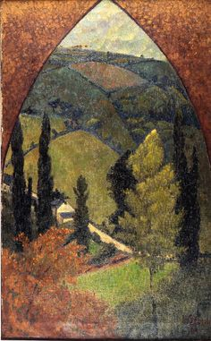 """Paul Serusier (French, 1864-1927) Gothic Landscape (Paysage ogival), 1921 """