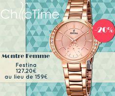 Pour plus de féminité durant cet été, optez pour la montre Festina F16911/2 à 127.20€ au lieu de 159€ !  Voir la montre: https://www.chic-time.fr/montres-femme/85482-montre-festina-f16911-2.html