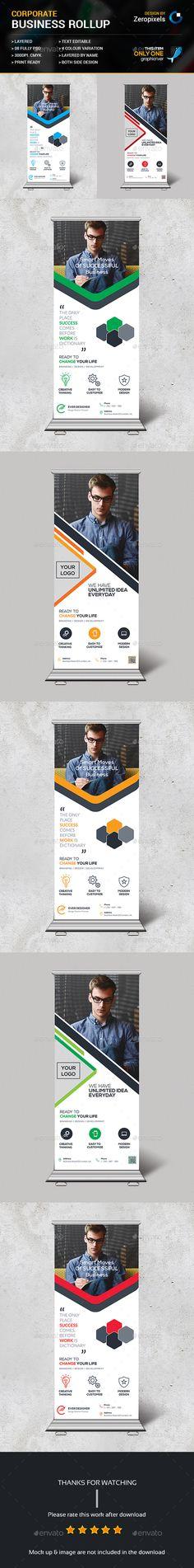 Roll-Up Banner Template PSD Bundle. Download here: http://graphicriver.net/item/roll-up-bundle/15557848?ref=ksioks