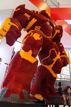 This LEGO Hulkbuster Is Over 8-Feet Tall