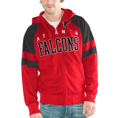 Atlanta Falcons Hands High Hands High Lifestyle League Full-Zip Hoodie - Red - $75.99