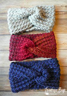 TC Twist Crochet Headband Free Pattern and Video - Crochet Pattern Bonanza Community Board - TC Twist Crochet Headband Free Pattern and Video Free crochet twist textured headband, all sizes. Crochet Twist, Crochet Cap, Crochet Gifts, Cute Crochet, Crochet Scarves, Crochet Hooks, Crochet Headband Free, Knitted Headband, Turban Headbands
