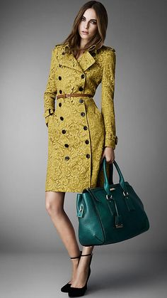 Burberry London Long Lace Trench Coat