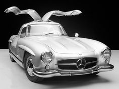 One of History's Most Beautiful Cars May Also Be the Most Innovative | The Mercedes-Benz 300 SL's gullwing doors were a practical feature—they accounted for the car's lightweight tubular frame.  Daimler AG  | WIRED.com