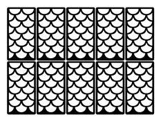 Fish scale Nail Art Vinyl Decal Sticker Stencil