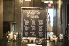 I like the modern feel of not going with the traditional placecards.  I would just ask for maybe 2 smaller arrangements and/or candles on the table