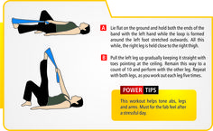 Abs, legs & arms. (exercise / resistance bands should be used under professional supervision & guidance).