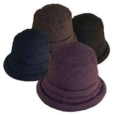 7baa16bf667 Classic Connecticut lady bucket style rain hat. Quilted