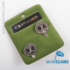 Crawford Clan Crest Cufflinks. Free worldwide shipping available