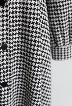 Bowknot Houndstooth Button Down Dress in White - DRESS - Retro, Indie and Unique Fashion Houndstooth Dress, Button Down Dress, Retro Dress, Shoulder Sleeve, Unique Fashion, Fit And Flare, Button Downs, Bell Sleeves, How To Make
