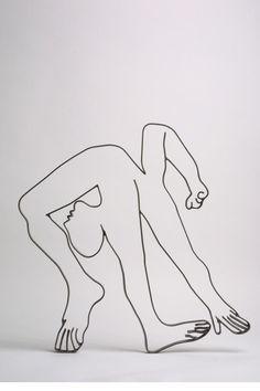 iron sculpture-  Acrobat