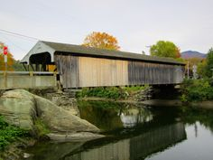 1833 Waitsfield Covered Bridge (oldest operating covered bridge in VT).