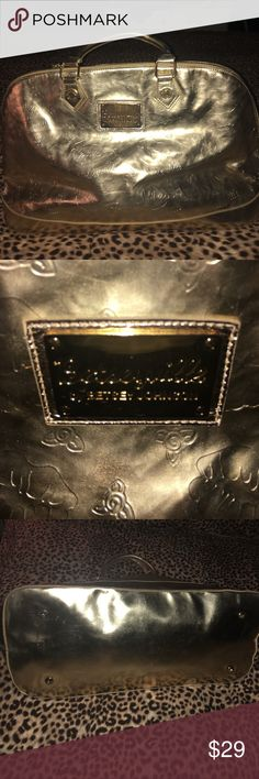 Betsey Johnson large gold purse Betseyville larger gold purse 22x13x9. Betsey Johnson Bags Totes
