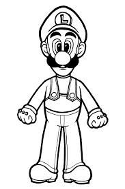luigi coloring pages to print | All Mario Characters Coloring Pages | Free Printable Mario ...