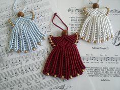 Christmas ornaments. Christmas decorations. Christmas angel. Macrame angel. by asmina on Etsy