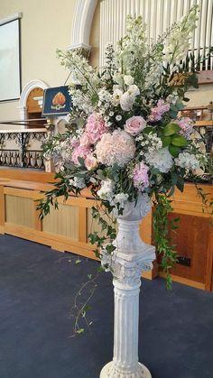 Posy Barn tall urn church arrangement