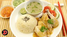 Cara memasak Makanan Oriental Nasi Ayam Hainan, Bahan Ayam 1 Ekor, Nasi, Bawang Daun, Jahe. Ikuti Video Masak Cara Membuatnya