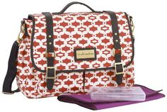 $148.00-$148.00 Baby TheCocalo Couture Riley Cross body Diaper Bag is a stylish baby bag that has a spot for every essential and a design that won't get in the way. Crafted with durable, waterproof nylon in a bold print, this bag boasts multiple elasticized pockets for toys and cell phones and two dedicated bottle pockets for juice and formula. It's fully loaded with accessories, including a cl ...