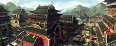 Oriental Street, JongWoong Park on ArtStation at…
