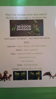 Disney Dinner Night #98 - The Good Dinosaur