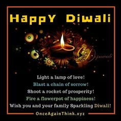 Wish You And Your Family A Very #happydiwali #deepavali #wishes #samvat2073 #fun #joy #happy #crakers #prosperity #quote Diwali Wishes Quotes, Happy Diwali, Your Family, Flower Pots, Joy, Instagram Posts, Sweets, Awesome, Design