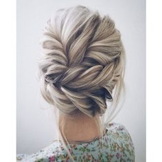 This beautiful wedding hair updo hairstyle will inspire you ❤ liked on Polyvore featuring beauty products, haircare and hair