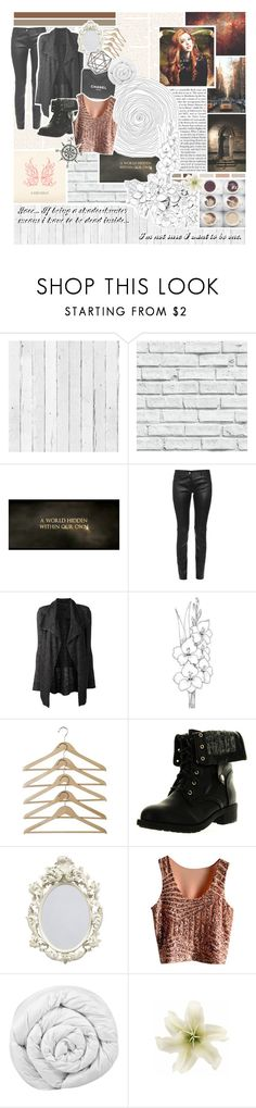 """""""// Jace... If being a shadowhunter means i have to be dead inside... I'm not sure I want to be one."""" by mikaelsonlegacy ❤ liked on Polyvore featuring NLXL, Balenciaga, Theory, Chanel, Refresh, Brinkhaus, Clips, claryfray and shadowhunters"""