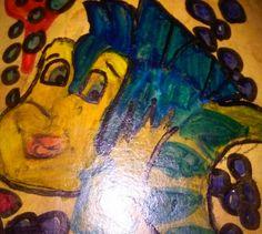 Disney gourd art of The Little Mermaid founder