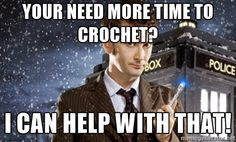 Doctor Who David Tennant and Sonic Screwdriver - YOUR NEED MORE TIME TO CROCHET? I CAN HELP WITH THAT!