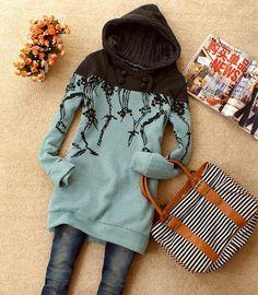 2012 best selling,free shipping, loose hoodies,large-size hoodies,cartoon animal pattern hoodies,wholesale and retail