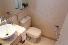 Resultado de imagem para qual o tamanho ideal para lavabo Toilet, Sink, Bathroom, Home Decor, Tiny Half Bath, Kitchens, Wall Papers, Environment, Bathroom Sinks