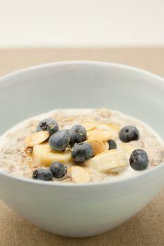 Porridge. An Inspiring office favourite. Add a little honey, raisins, banana, cinnamon, apple, whatever you've got handy!