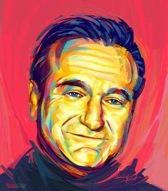 A Pop Art Expression of Robin Williams in Photoshop by Bandula Samarasekera, via Behance